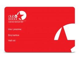 Club 5* kartica